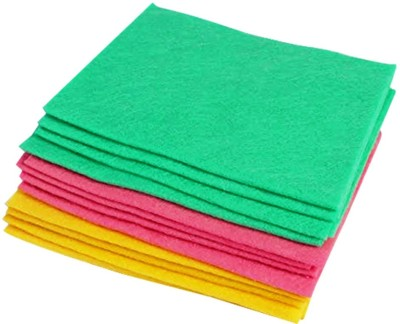 AND Retails Multipurpose Absorbent Cleaning Wipes, Set of 12, Assorted Colors Wet and Dry Microfibre Cleaning Cloth