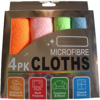 GOR Dry Microfibre Cleaning Cloth(Pack of 4)