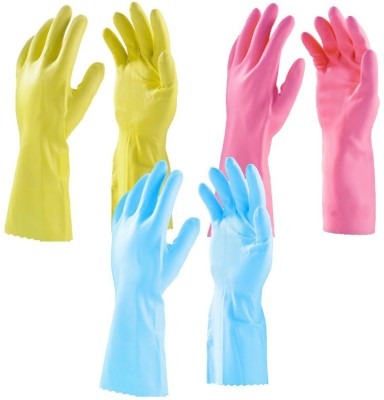 Safe Hand Wet and Dry Disposable Glove Set(Free Size Pack of 3)