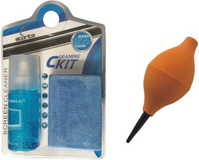 Storite 2 in 1 Cleaning Kit & Orange Air Blower for Computers
