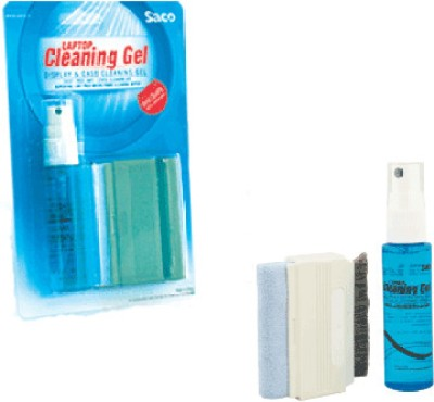 Saco Cleaning Gel with Microfiber Wiper for Computers