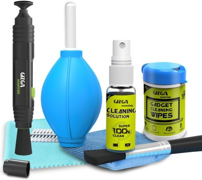 Gizga essentials Professional Lens Pen Pro System + 6-in-1 Cleaning Kit + Wipes for Cameras and Sensitive Electronics for Computers