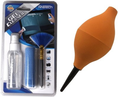 RiaTech Combo of 3 In 1 Cleaning Kit & Rubber Air blower for Computers