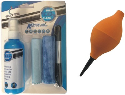 Storite 4 in 1 Cleaning Kit & Orange Air Blower for Computers