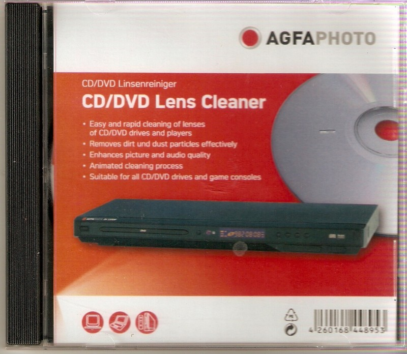 Agfa Photo Cd/Dvd Lens Cleaner for Laptops, Computers(AP108015)
