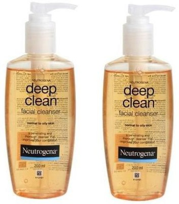 Neutrogena Deep Clean Facial Cleanser Saver Pack of 2 X 200ml
