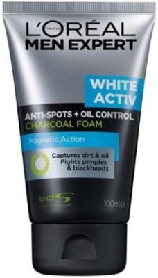 L,Oreal Paris Men Expert White Activ Anti-Spots Oil Control Charcoal Foam