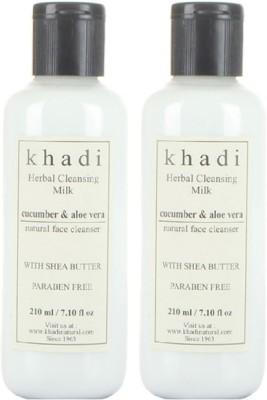 khadi Natural Herbal Cleansing Milk - Cucumber & Aloe Vera (Twin Pack)