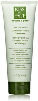 Kiss My Face Organic Clean for a Day Creamy Face Cleanser(Pack of 3)