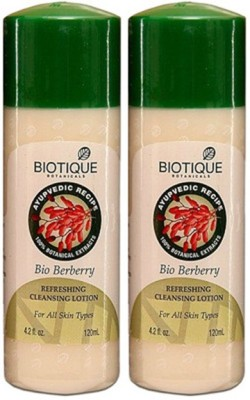 Biotique Berberry Refreshing Cleansing Lotion (Pack of 2)