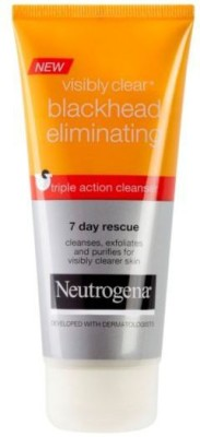Neutrogena Blackhead Triple Action Cleanser (Made In France) Imported