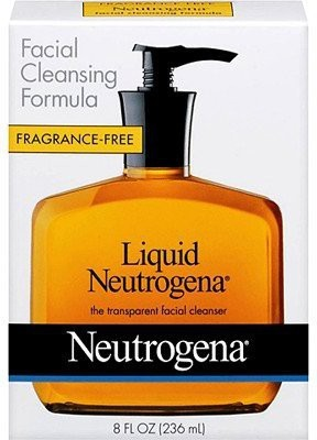 Neutrogena Fragrance Free Liquid Facial Cleansing Formula (Pack of 4)