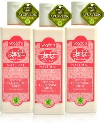Khadi Natural Deep-Pore Cleansing Milk [ pack of 3] 200 ml