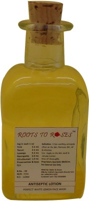 Roots To Roses Antiseptic Lotion Lemon Face Wash
