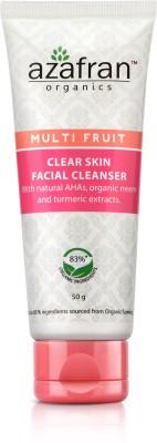 Azafran Organics Multi Fruit Clear Skin Facial Cleanser