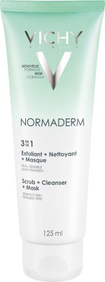 Vichy Normaderm 3 in 1 Mask, Scrub & Cleanser