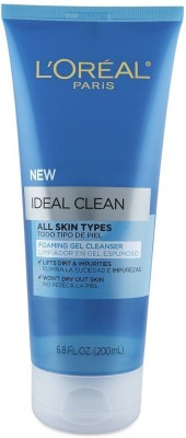 L,Oreal Paris New Ideal Clean All Skin Type Foaming Gel Cleanser