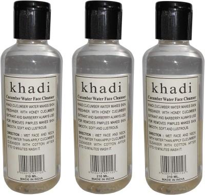 Khadi Herbal Cucumber water face cleanser- pack of 3 pcs
