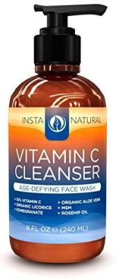 InstaNatural aloe vera face wash with vitamin a