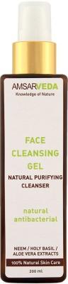 Amsarveda 100% Natural Face Cleansing Gel - Antibacterial with Neem & Tulsi