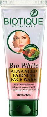 Biotique Bio white whiting & brightining FACE WASH 50 ml (2)