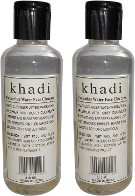 Khadi Herbal Cucumber water face cleanser- Twin pack
