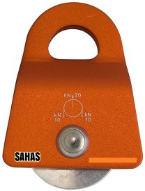 SAHAS SH-58x73 Single without Ball Bearing Climbing Pulley(Multicolor)