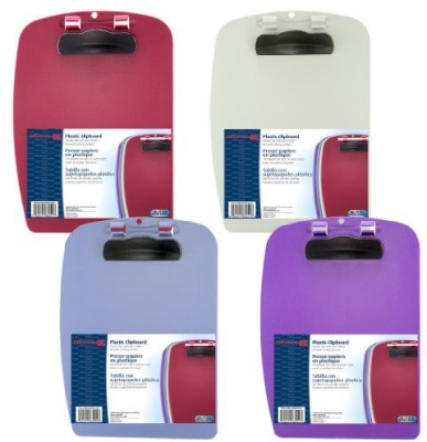 Officemate International Letter Size Plastic File Clip Board