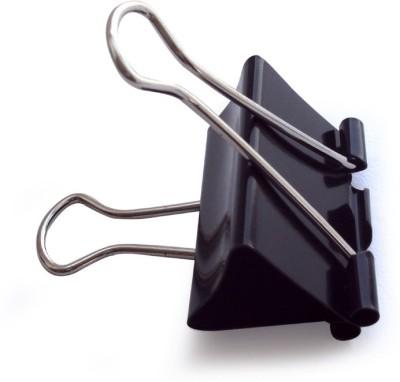 Feiyide Fei Large Metallic Binder Clip(Set of 36, Black)