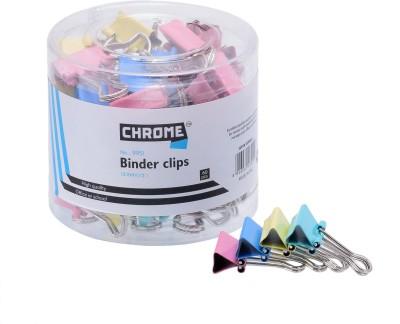 Chrome Pins Small Metallic Binder Clip