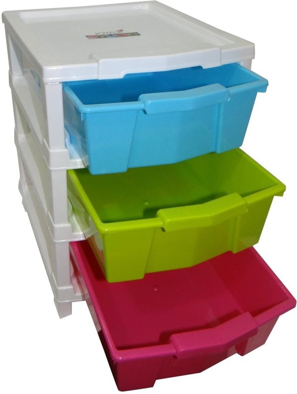 wud kraft junior 3 Drawer Divider(Plastic)