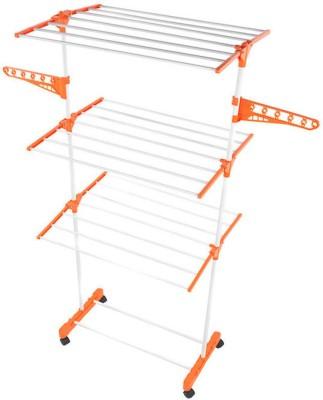 Shopo Kawachi Easy Drying Rack Steel, Plastic Floor Cloth Dryer Stand