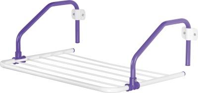 Bonita Rail Mate Steel, Plastic Wall Cloth Dryer Stand(Purple)