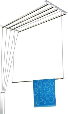 TNC Stainless Steel Ceiling Cloth Dryer Stand(Steel, White)
