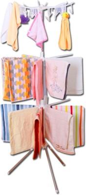 Shopo 3 Layers Of Towel Rack Plastic Floor Cloth Dryer Stand