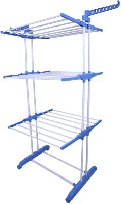 Brecken Paul Steel, Polypropylene Floor Cloth Dryer Stand(Multicolor)
