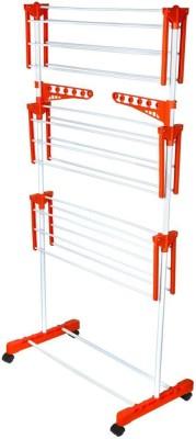 SHP Plastic Floor Cloth Dryer Stand(Orange)
