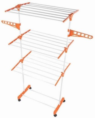 Skys&Ray Plastic Floor Cloth Dryer Stand(Orange, Pack of 1)