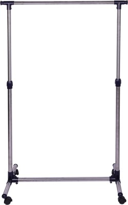 Brecken Paul Single Pole Stainless Steel Floor Cloth Dryer Stand(Silver)