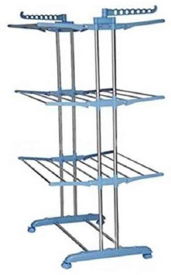 Masterfit Plastic Floor Cloth Dryer Stand(Blue, White)