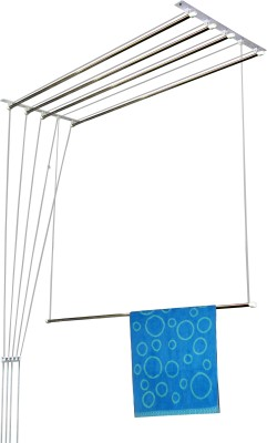Rainbow Drywell 5 Pipes 4 Feet Luxury Stainless Steel Ceiling Cloth Dryer Stand