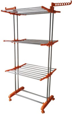 ASP Healthcare ASP Healthcare Stainless Steel, Plastic Floor Cloth Dryer Stand(Orange)