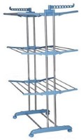 GOR Double Pole Three Layer Stainless Steel Floor Cloth Dryer Stand(White)