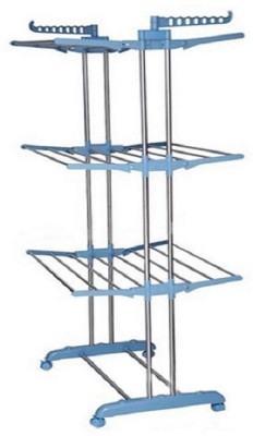 GOR Double Pole Three Layer Stainless Steel Floor Cloth Dryer Stand