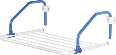 Bonita Rail Mate Steel, Plastic Wall Cloth Dryer Stand(Blue)