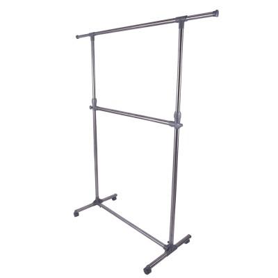 Brecken Paul Steel Floor Cloth Dryer Stand(Silver, Black)