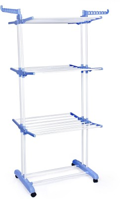Birdy Steel, Polypropylene Floor Cloth Dryer Stand(Blue, White)