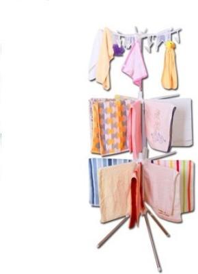 Vmore 3 Layers Towel Rack Plastic Floor Cloth Dryer Stand