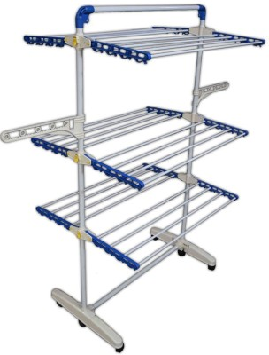 FAVOUR Easy Plus Stainless Steel, Plastic Floor Cloth Dryer Stand(Blue, White)