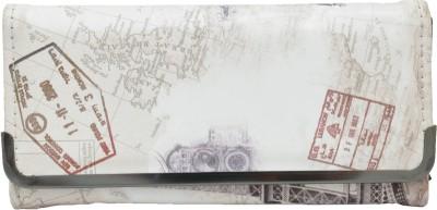 krazykart Casual White  Clutch